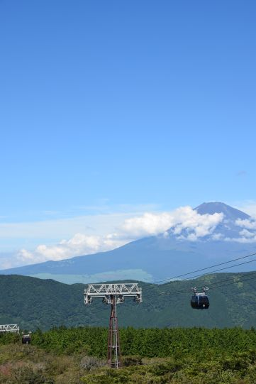 Taking the cable to Mt. Fuji