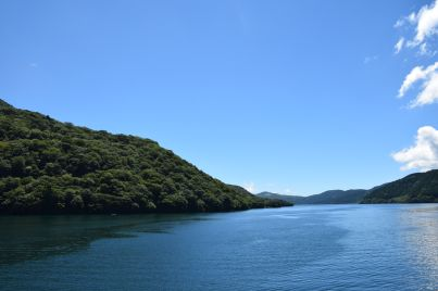 The countryside in Japan is just stunning. Look at the blue skies!