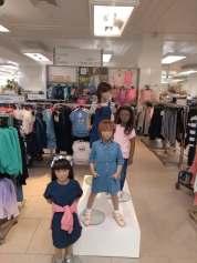 Denim girls mannequins