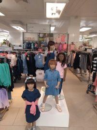 Denim girls mannequins