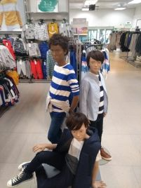 Boys denim mannequins