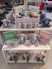 Elephant table that then got transferred onto cubes to make shopping easier
