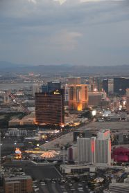 The strip at dusk