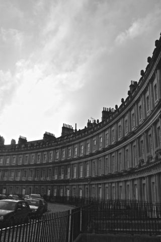 Black + white Royal Crescent