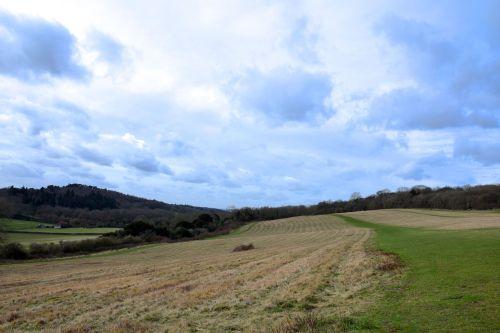 Walk across the fields