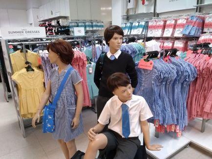 Back to school mini-peak mannequins