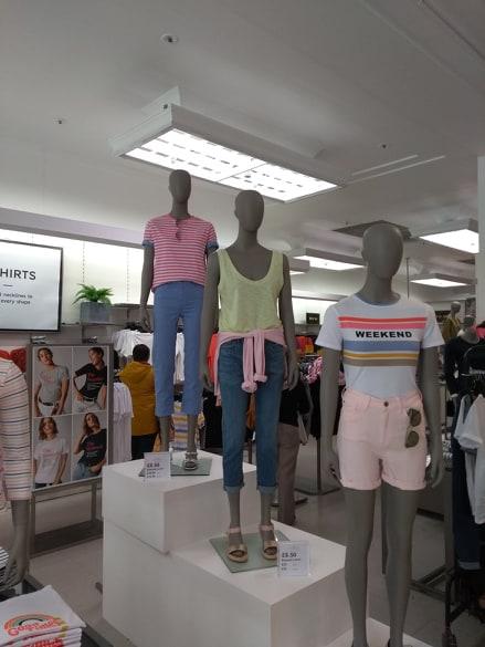 T-shirt department re-fresh to suit the recent heatwave. Lollipop colours were a must!