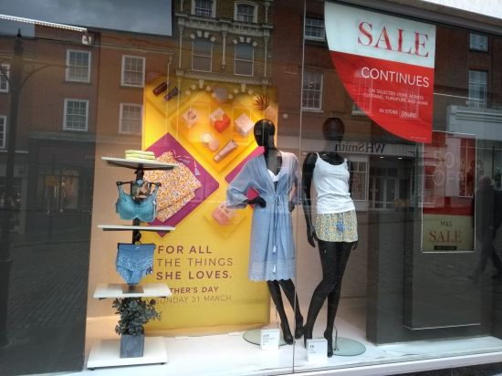 Mothers day window