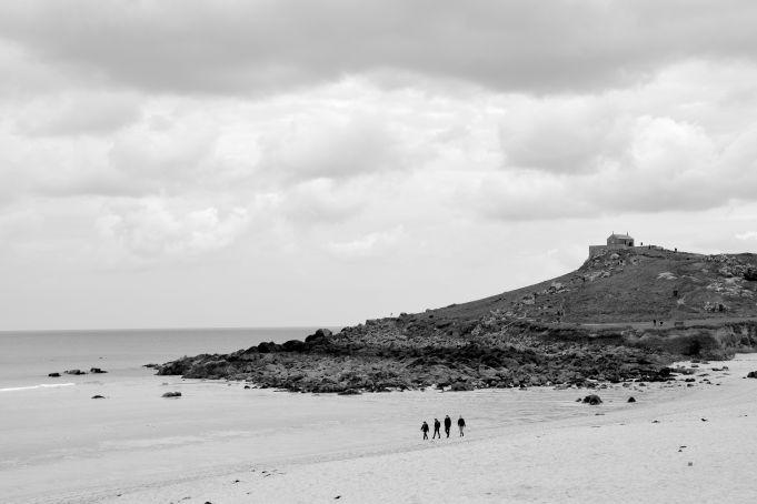 The beach black + white