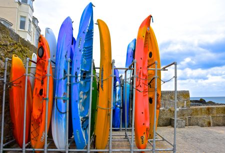 Kayaks and canoes