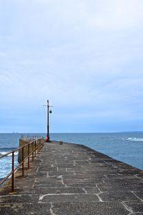 Walking down the pier